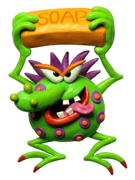 Troll Mixed Media - Germ Monster by Amy Vangsgard