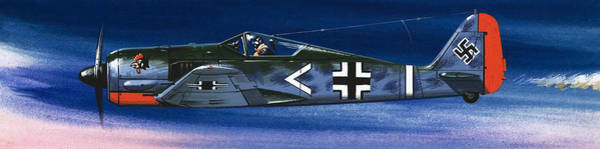 Wall Art - Painting - German Aircraft Of World War Two Focke Wulf Fighter by Wilf Hardy