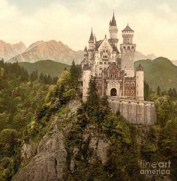 Wall Art - Photograph - German Castle Neuschwanstein by Padre Art