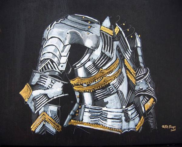 Painting - German Chest Armour by Richard Le Page