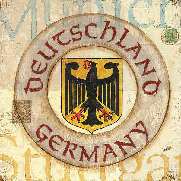Germany Wall Art - Painting - German Coat Of Arms by Debbie DeWitt