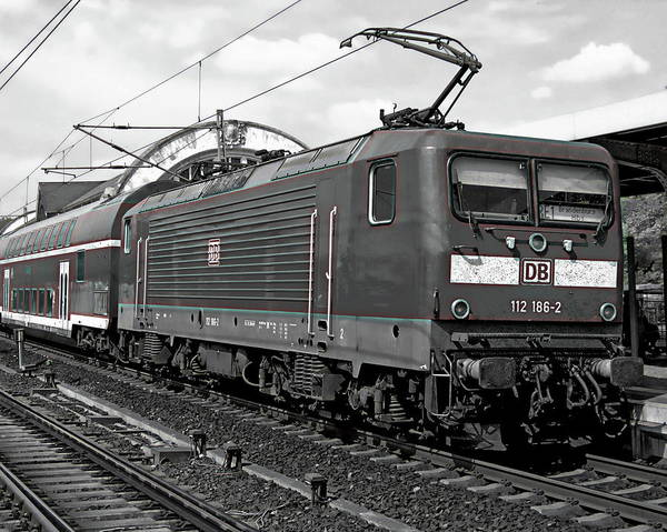Photograph - German Passenger Train by Anthony Dezenzio