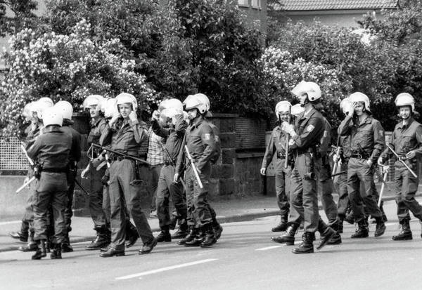 Photograph - German Polizei Riot Gear by SR Green