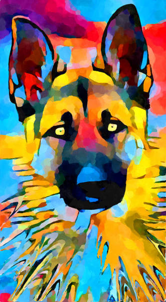 Wall Art - Painting - German Shepherd 2 by Chris Butler