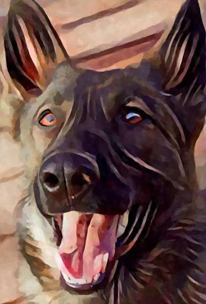 Wall Art - Painting - German Shepherd 5 by Chris Butler