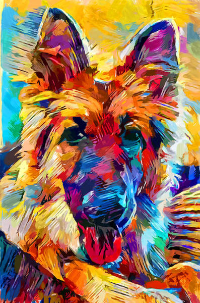 Wall Art - Painting - German Shepherd 6 by Chris Butler