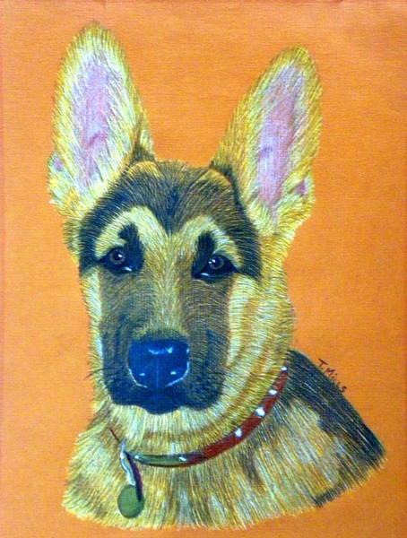 German Shepherd Drawing - German Shepherd Dog by Terri Mills