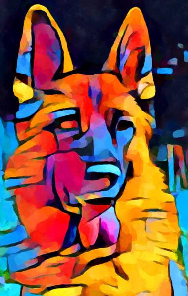 Wall Art - Painting - German Shepherd Watercolor by Chris Butler