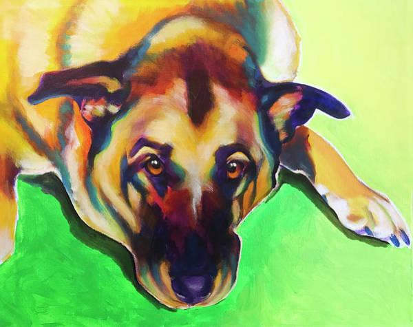 Wall Art - Painting - German Shepherd - Zeke by Alicia VanNoy Call