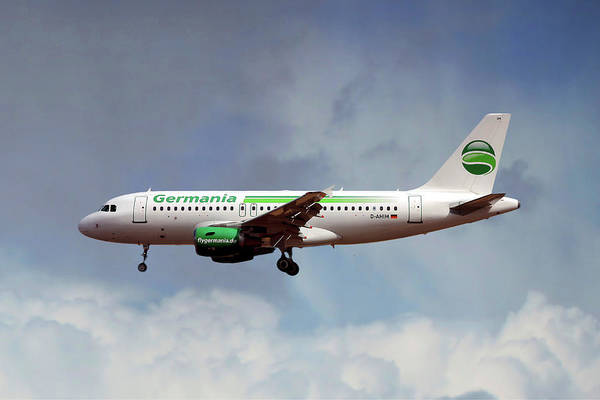Airbus A319 Wall Art - Photograph - Germania Airbus A319-112 by Smart Aviation