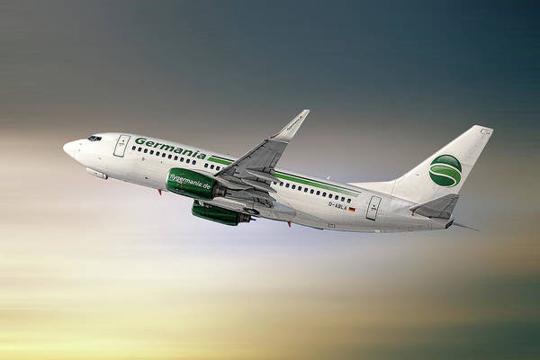 Wall Art - Mixed Media - Germania Boeing 737-76j by Smart Aviation
