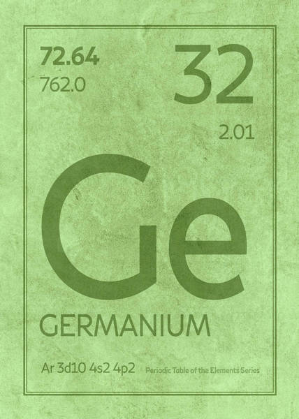 Elements Mixed Media - Germanium Element Symbol Periodic Table Series 032 by Design Turnpike