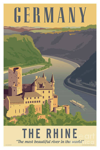 Wall Art - Digital Art - Germany Retro Poster by Jim Zahniser