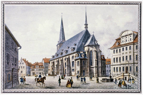 Drawing - Germany,  Weimar by Granger