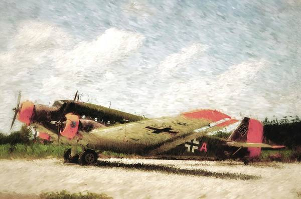 Ju 52 Wall Art - Painting - German Junkers Ju52 Painting by A R Williams