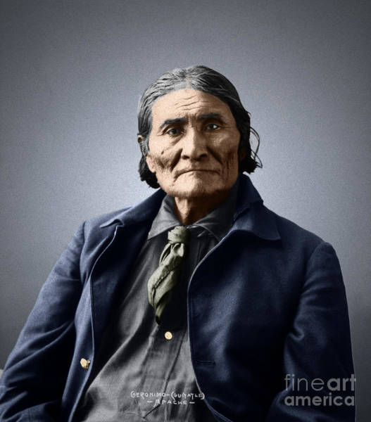 Photograph - Geronimo by Granger