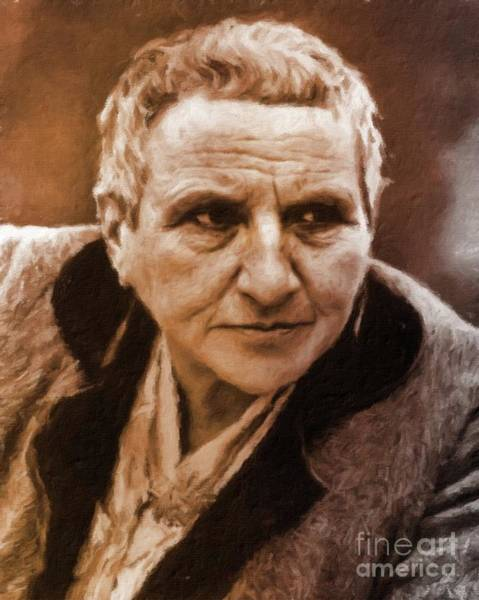 Poetry Painting - Gertrude Stein, Literary Legend By Mary Bassett by Mary Bassett