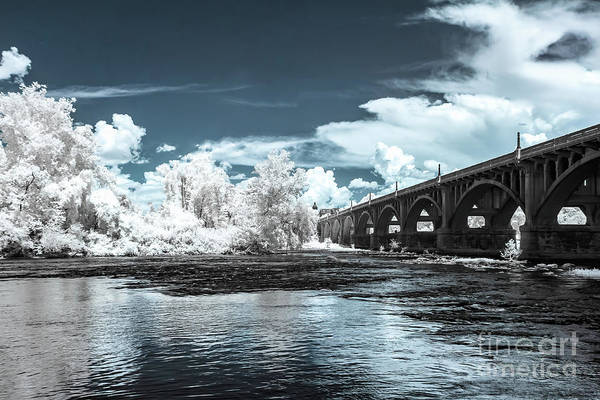 Gervais St. Bridge-infrared Art Print
