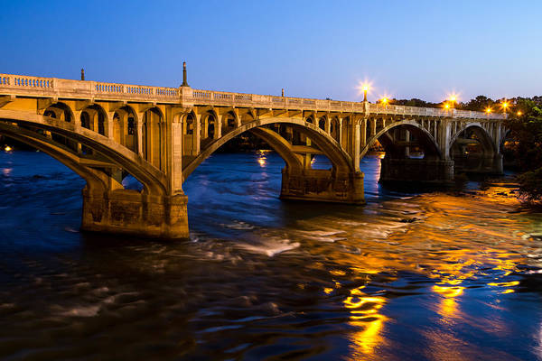 Photograph - Gervais Street Bridge At Twilight by Charles Hite