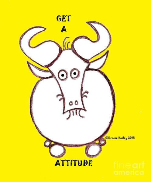 Painting - Get A Gnu Attitude by Denise Railey