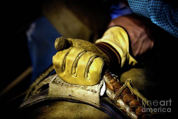 Prca Wall Art - Photograph - Cowboy Leather Grip by Rob Daugherty