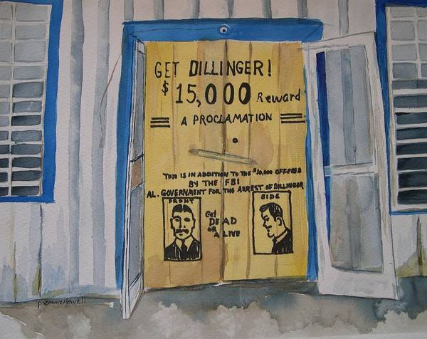 Wall Art - Painting - Get Dillinger by Patricia Caldwell