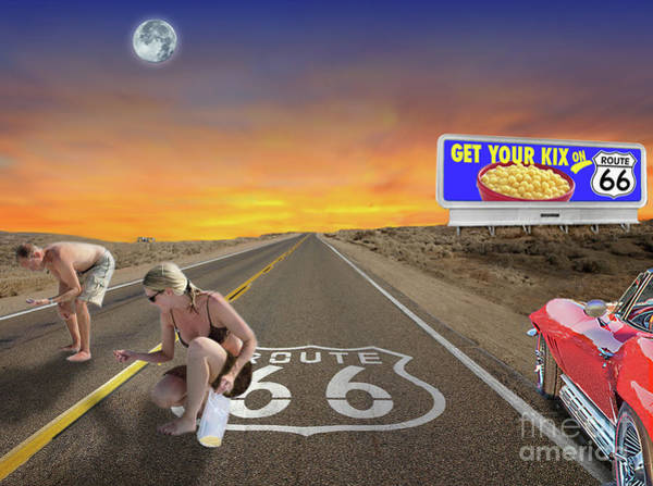 Digital Art - Get Your Kix On Rt.66 by Ed Dooley