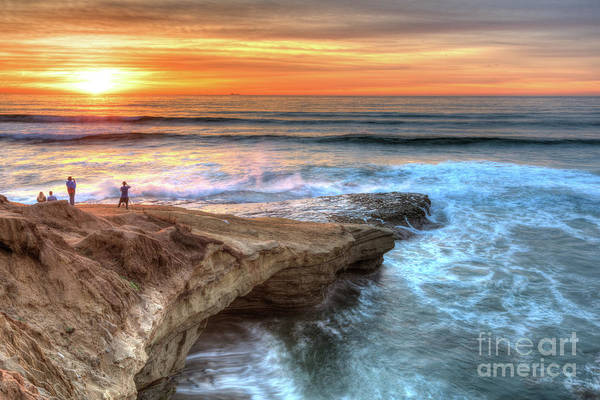 Photograph - Getting A Look At Sunset Cliff's Sunset by David Levin