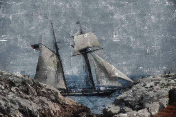 Photograph - Getting Close To The Rocks by Jeff Folger