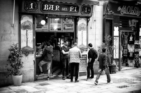 Photograph - Getting Drinks At Bar Del Pi Barcelona by John Rizzuto