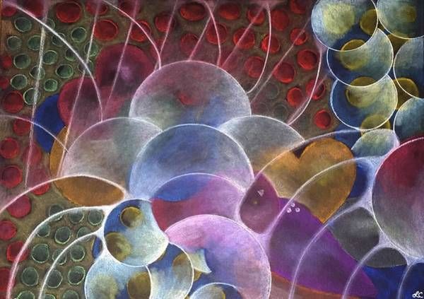 Wall Art - Pastel - Getting Into The Vortex-abstract Pattern Art by Laurie's Intuitive