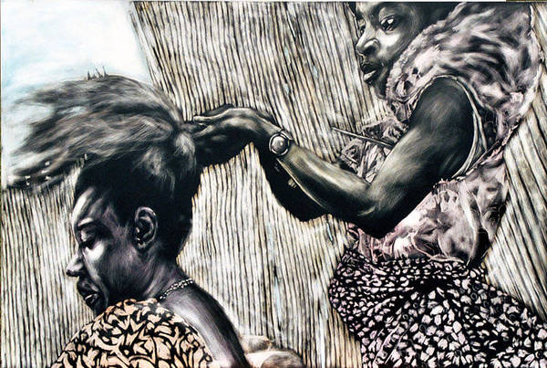 Chester Mixed Media - Getting Ready by Chester Elmore