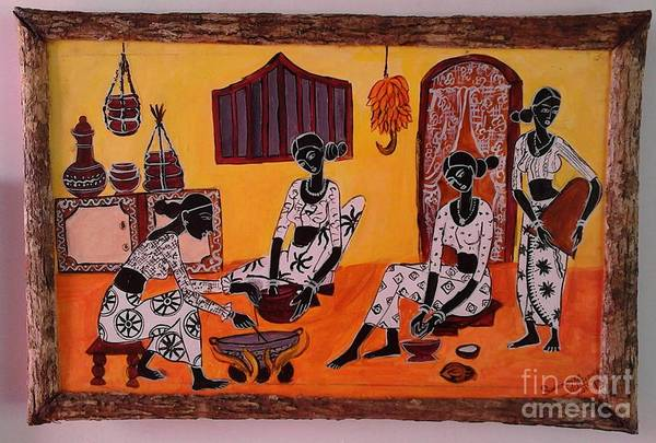 Wall Art - Painting - Getting Ready For The New Year by Sudumenike Wijesooriya