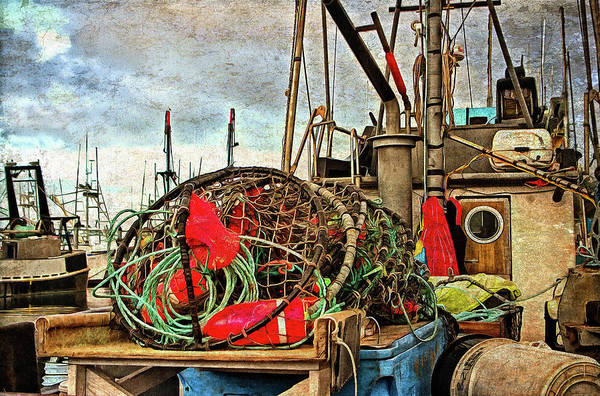Photograph - Crab Rings On Deck by Thom Zehrfeld