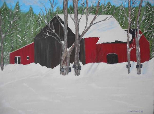 Don Williams Painting - Getting The Maple Syrup by Don Williams
