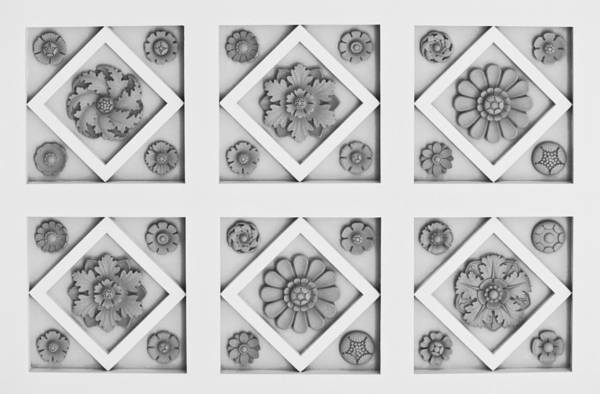 J Paul Getty Photograph - Getty Villa Coffered Peristyle Ceiling by Teresa Mucha