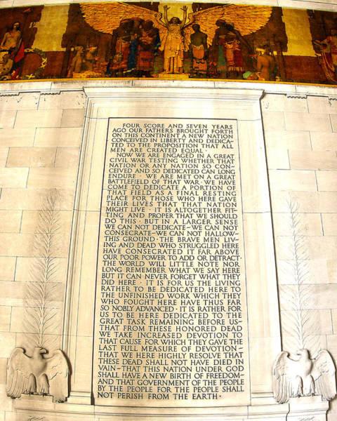 Gettysburg Address Wall Art - Photograph - Gettysburg Address by Mitch Cat