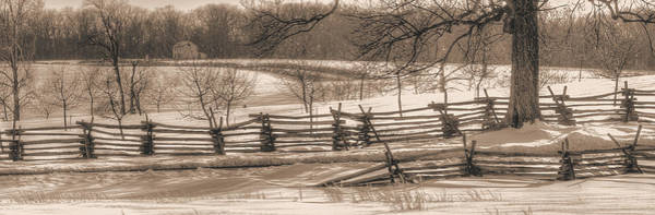 Wall Art - Photograph - Gettysburg At Rest - We'll Be Home Before Dark - Phillip Synder Farm, Winter by Michael Mazaika