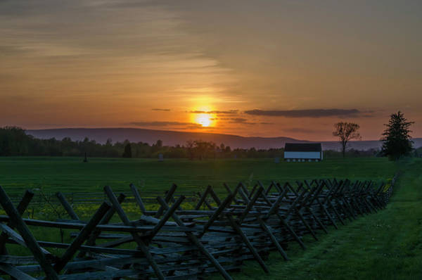 Photograph - Gettysburg At Sunset by Bill Cannon