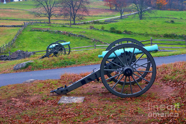 Photograph - Gettysburg Battlefield And Its Guns by Paul W Faust -  Impressions of Light