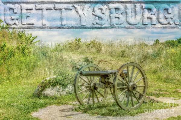 Gettysburg Battlefield Cannon Art Print
