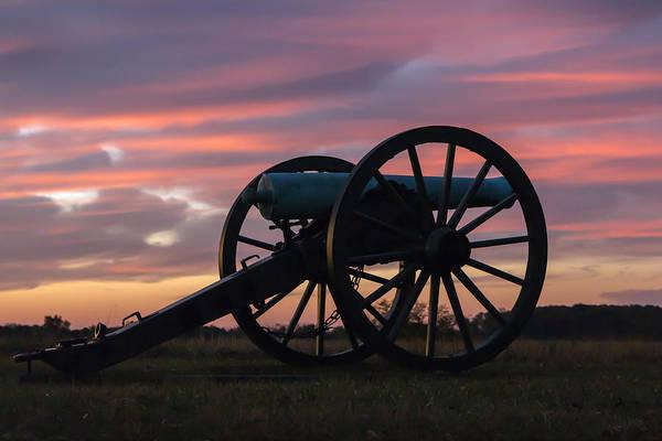 Gettysburg - Cannon On Cemetery Ridge At First Light Art Print