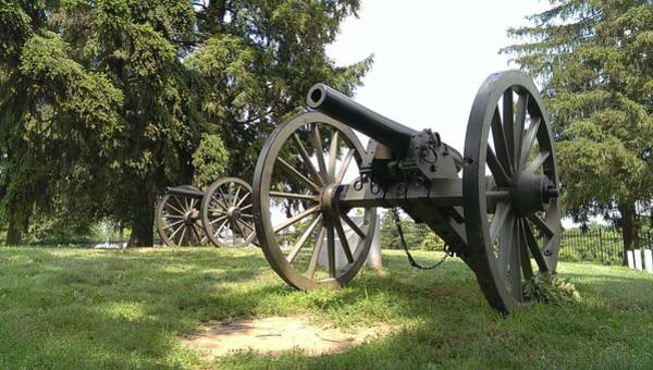 Photograph - Gettysburg Cannons by Liza Eckardt