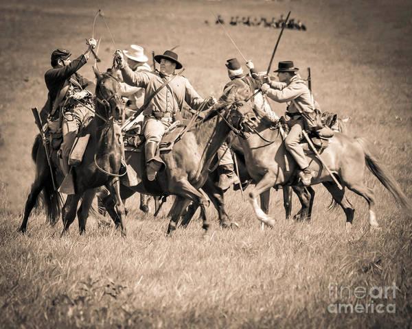 Photograph - Gettysburg Cavalry Battle 7948s  by Cynthia Staley