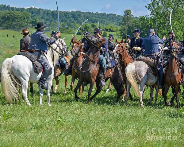 Photograph - Gettysburg Cavalry Battle 7970c  by Cynthia Staley
