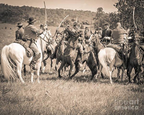 Photograph - Gettysburg Cavalry Battle 7970s  by Cynthia Staley