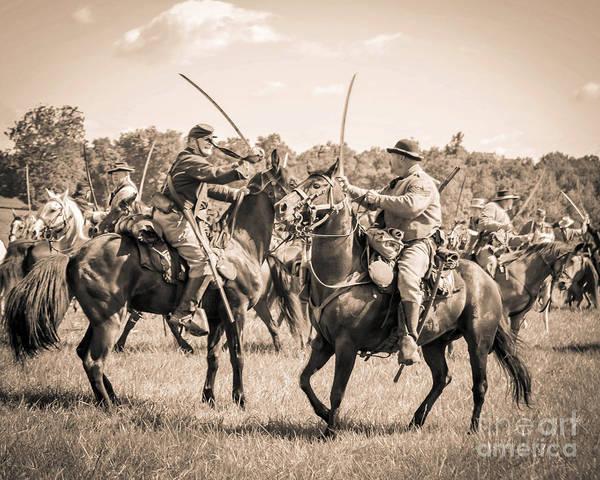 Photograph - Gettysburg Cavalry Battle 7978s  by Cynthia Staley