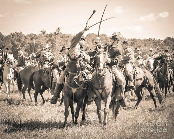 Photograph - Gettysburg Cavalry Battle 7992s  by Cynthia Staley