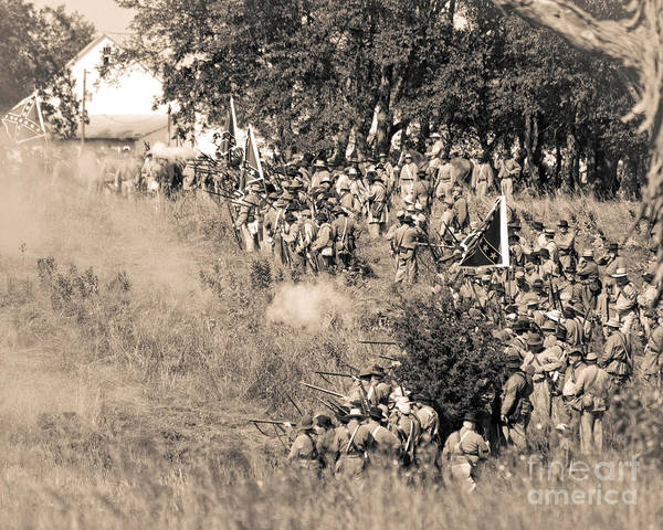 Photograph - Gettysburg Confederate Infantry 8825s by Cynthia Staley