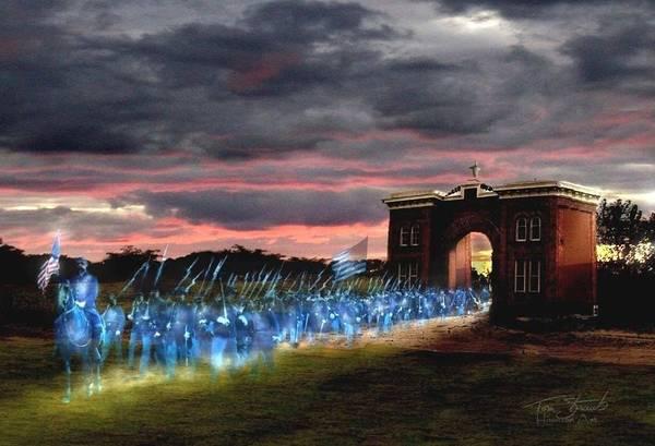 Cemetery Digital Art - Gettysburg Evergreen by Tom Straub
